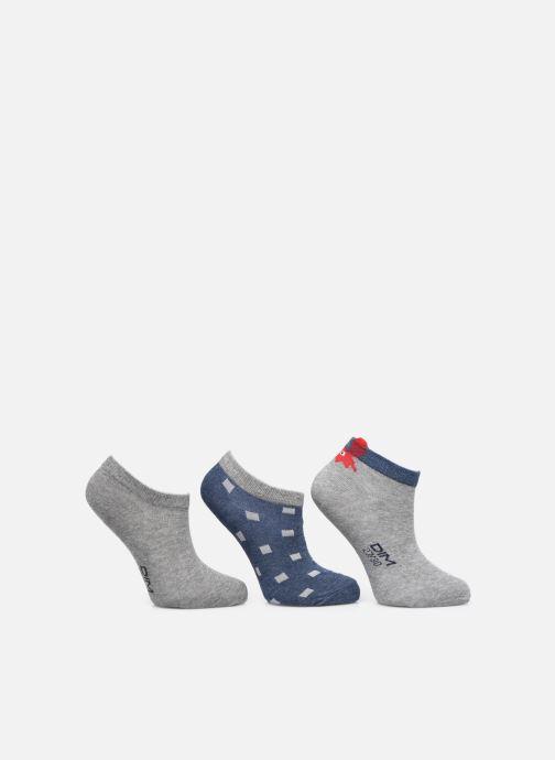 Socken & Strumpfhosen Dim KID Socquettes Courtes Crabes Coton Style  X3 grau schuhe getragen