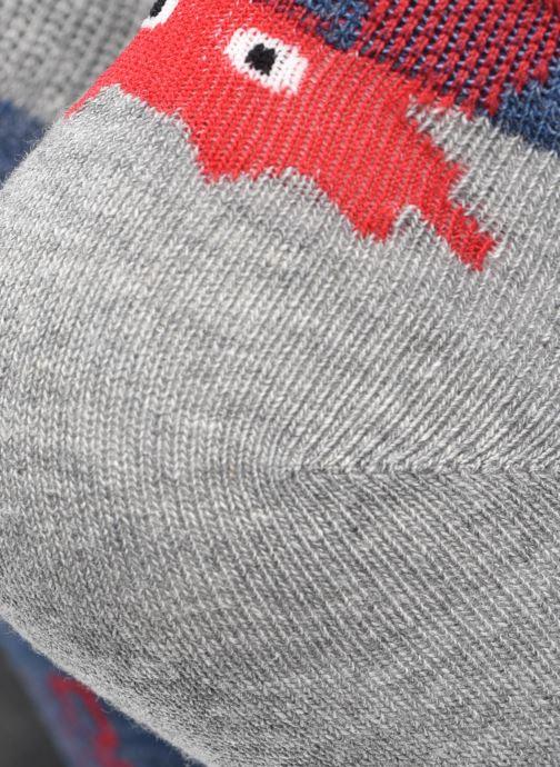 Socken & Strumpfhosen Dim KID Socquettes Courtes Crabes Coton Style  X3 grau ansicht von vorne