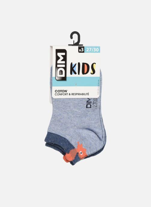 Socken & Strumpfhosen Dim KID Socquettes Courtes Crabes Coton Style  X3 blau detaillierte ansicht/modell