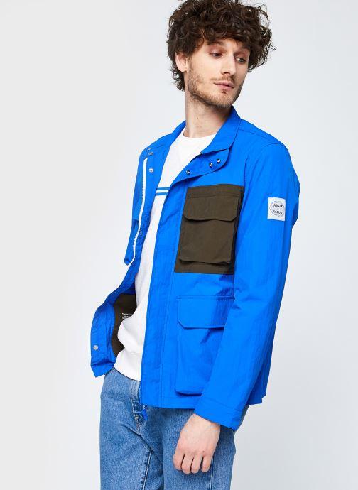Kleding Aigle Jacket Aigle X Faguo Blauw detail
