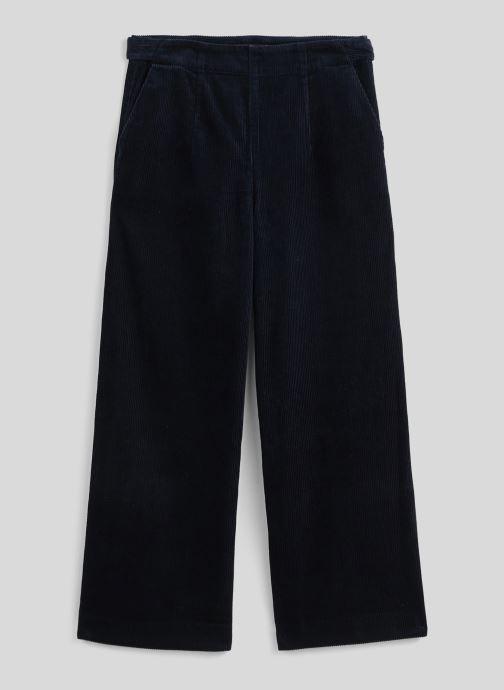 Vêtements Monoprix Femme Pantalon raccourcis velours Bleu vue face