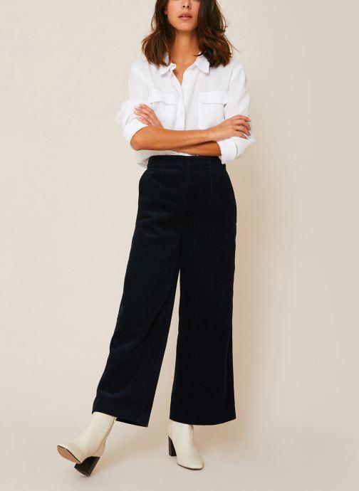 Pantalon raccourcis velours