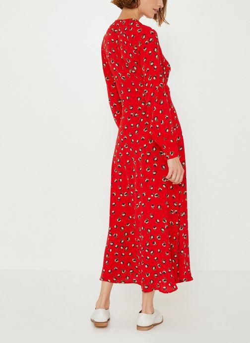 Vêtements Monoprix Femme Robe longue cache-coeur imprimé floral Rouge vue portées chaussures