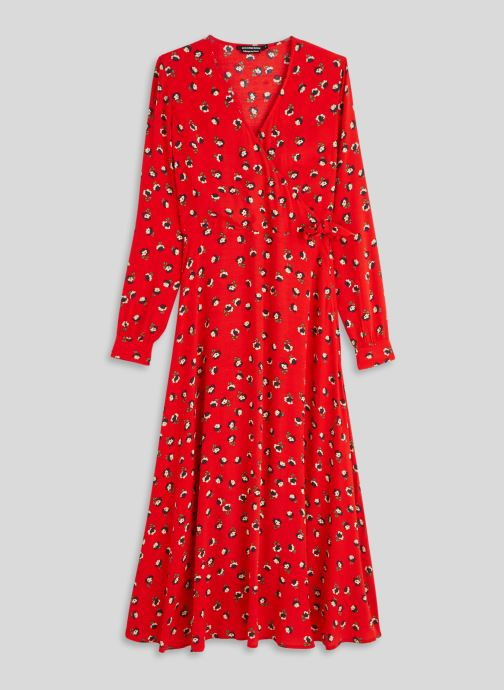 Kleding Monoprix Femme Robe longue cache-coeur imprimé floral Rood voorkant