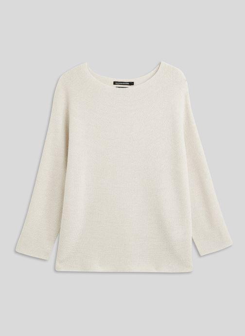 Vêtements Monoprix Femme Pull point mousse brillant Beige vue face
