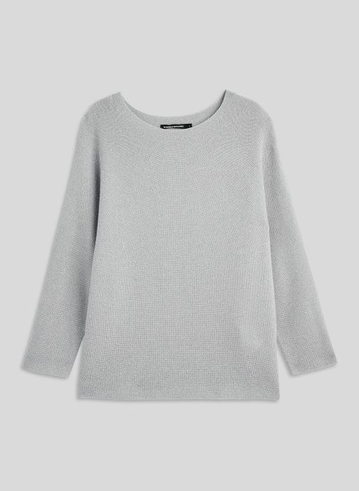 Vêtements Monoprix Femme Pull point mousse brillant Gris vue face