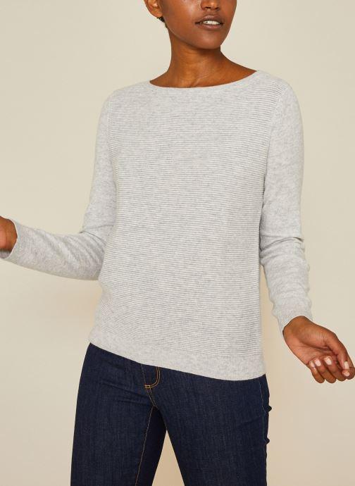 Vêtements Monoprix Femme Pull ottoman Gris vue détail/paire