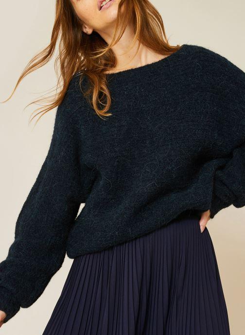 Vêtements Monoprix Femme Pull col rond en alpaga Bleu vue détail/paire
