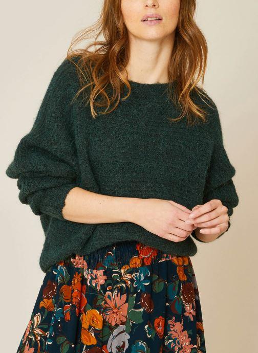 Kleding Monoprix Femme Pull col rond en alpaga Groen detail