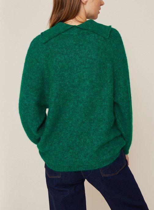 Kleding Monoprix Femme Pull col montant en alpaga Groen model