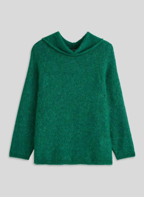 Kleding Monoprix Femme Pull col montant en alpaga Groen voorkant