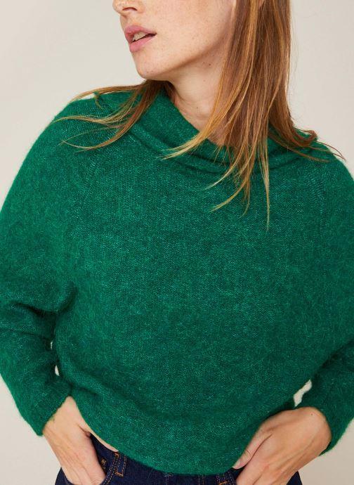 Kleding Monoprix Femme Pull col montant en alpaga Groen detail