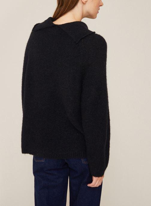 Vêtements Monoprix Femme Pull col montant en alpaga Noir vue portées chaussures