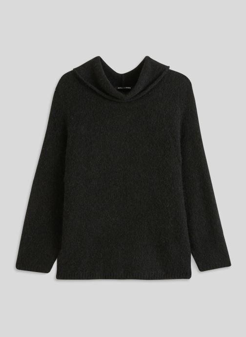 Vêtements Monoprix Femme Pull col montant en alpaga Noir vue face