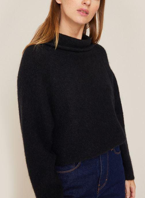 Vêtements Monoprix Femme Pull col montant en alpaga Noir vue détail/paire