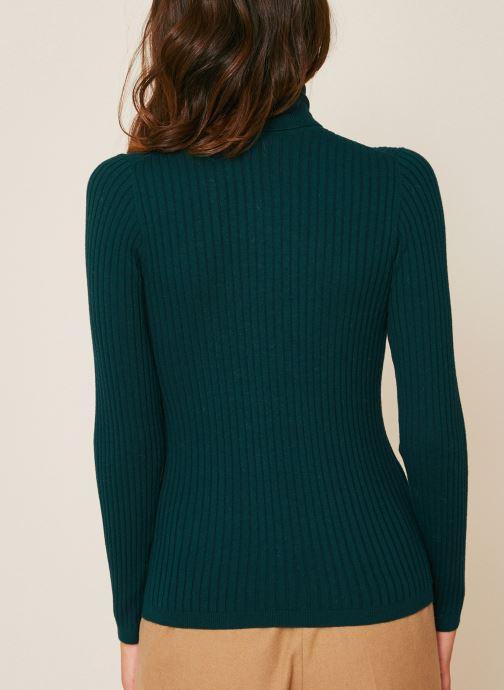 Vêtements Monoprix Femme Pull col roulé contenant du cachemire Vert vue portées chaussures