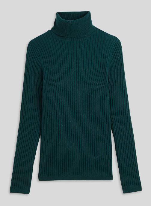 Vêtements Monoprix Femme Pull col roulé contenant du cachemire Vert vue face