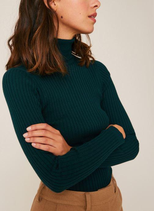 Vêtements Monoprix Femme Pull col roulé contenant du cachemire Vert vue détail/paire