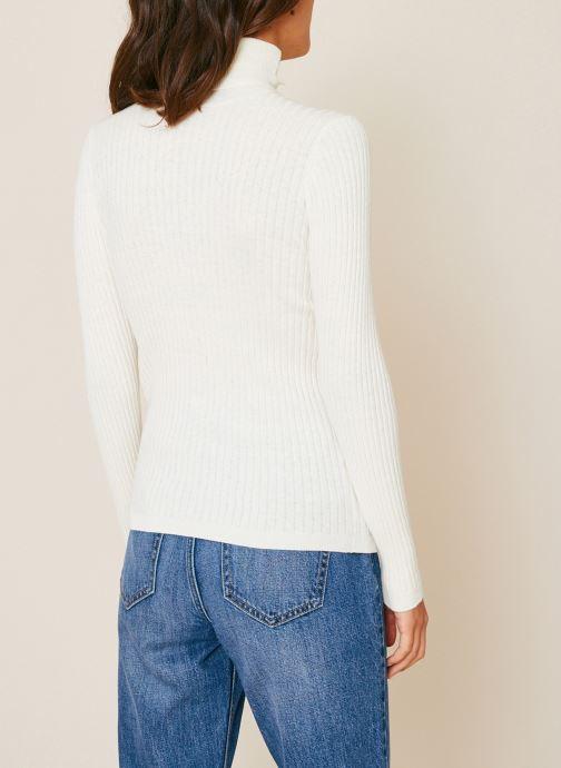 Vêtements Monoprix Femme Pull col roulé contenant du cachemire Blanc vue portées chaussures