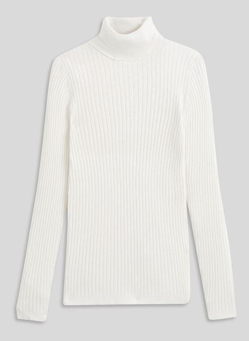 Vêtements Monoprix Femme Pull col roulé contenant du cachemire Blanc vue face