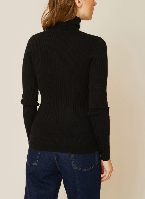 Vêtements Monoprix Femme Pull col roulé contenant du cachemire Noir vue portées chaussures