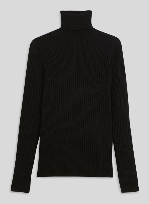 Vêtements Monoprix Femme Pull col roulé contenant du cachemire Noir vue face