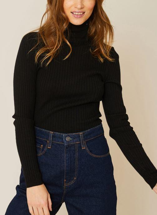 Vêtements Monoprix Femme Pull col roulé contenant du cachemire Noir vue détail/paire