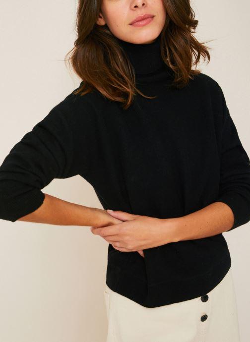 Kleding Monoprix Femme Pull col roulé en laine avec cachemire Zwart detail