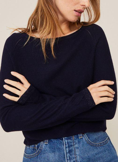Kleding Monoprix Femme Pull en lurex Blauw detail
