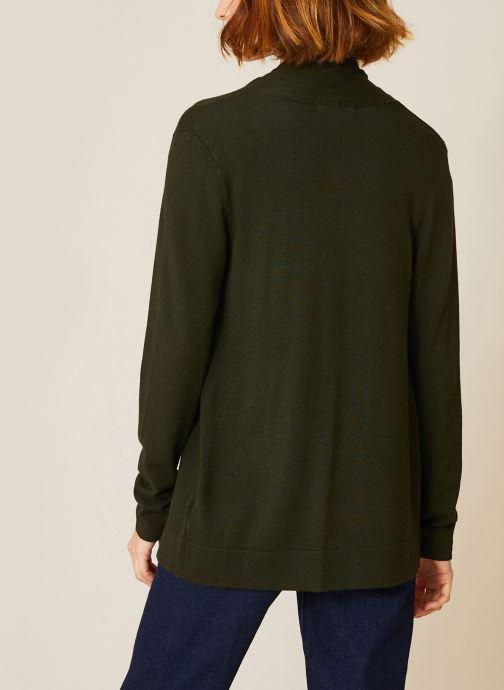 Vêtements Monoprix Femme Cardigan manches longues Vert vue portées chaussures