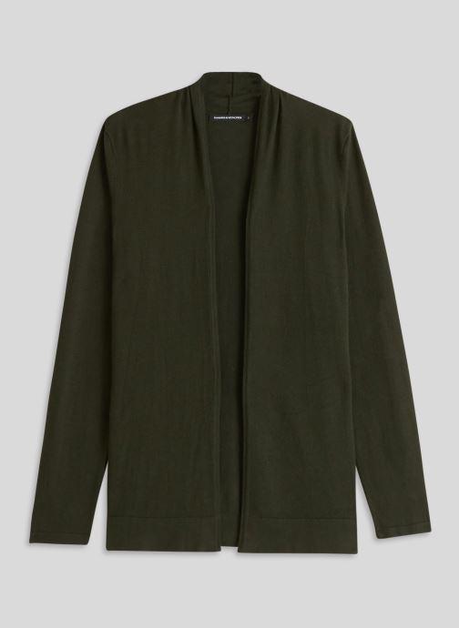 Vêtements Monoprix Femme Cardigan manches longues Vert vue face