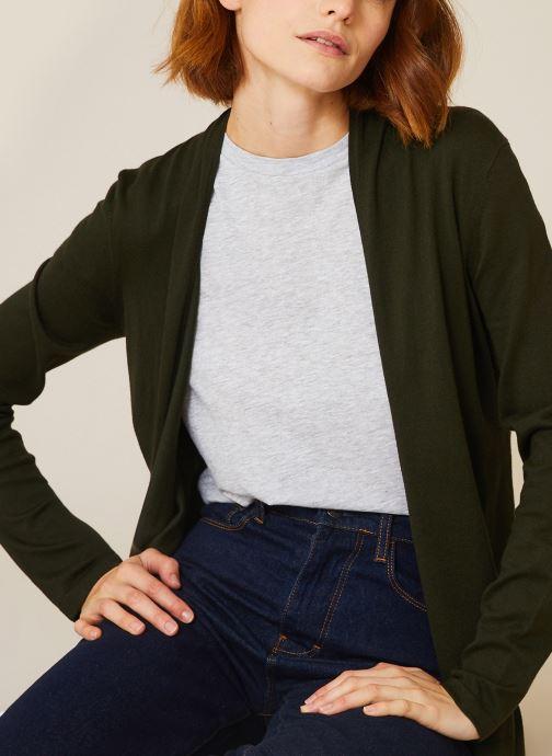 Vêtements Monoprix Femme Cardigan manches longues Vert vue détail/paire