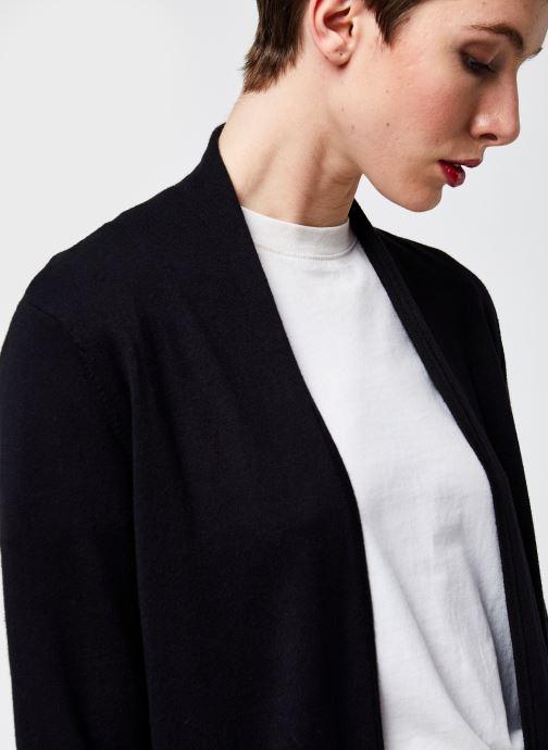 Kleding Monoprix Femme Cardigan manches longues Zwart voorkant