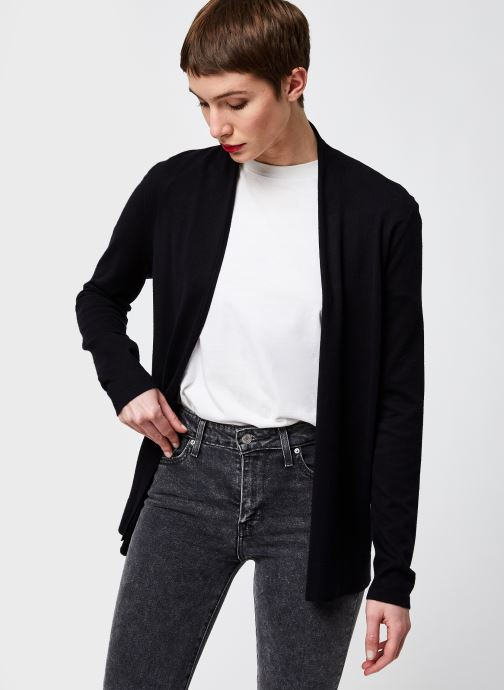 Kleding Monoprix Femme Cardigan manches longues Zwart rechts