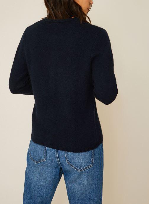 Vêtements Monoprix Femme Cardigan en alpaga Bleu vue portées chaussures