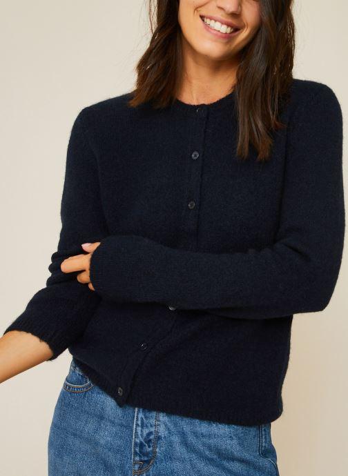 Vêtements Monoprix Femme Cardigan en alpaga Bleu vue détail/paire
