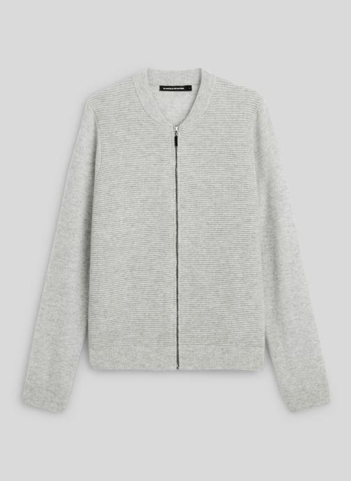 Vêtements Monoprix Femme Cardigan laine et cachemire Gris vue face