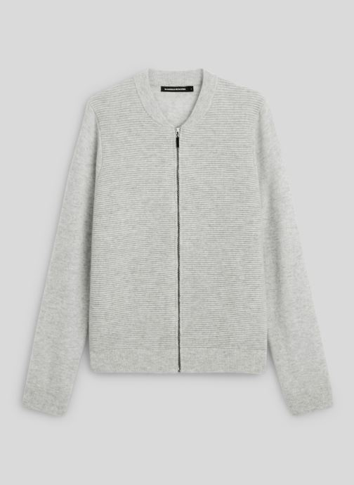 Kleding Monoprix Femme Cardigan laine et cachemire Grijs voorkant