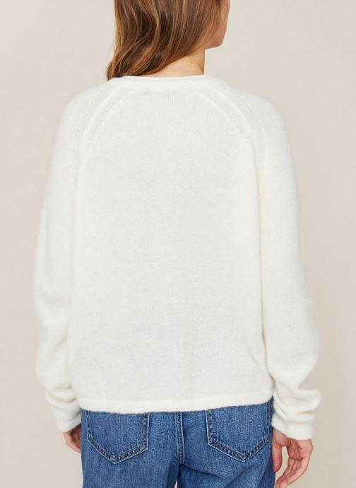 Vêtements Monoprix Femme Gilet en alpaga Blanc vue portées chaussures