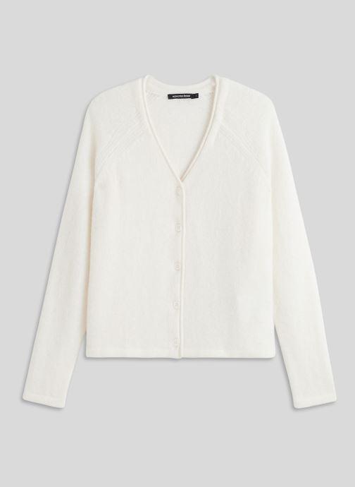Vêtements Monoprix Femme Gilet en alpaga Blanc vue face