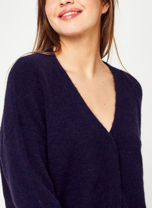 Vêtements Monoprix Femme Gilet contenant de l'alpaga Bleu vue face