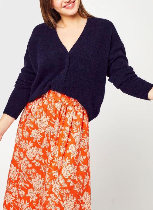 Vêtements Monoprix Femme Gilet contenant de l'alpaga Bleu vue détail/paire