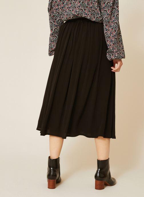 Vêtements Monoprix Femme Jupe midi Noir vue portées chaussures