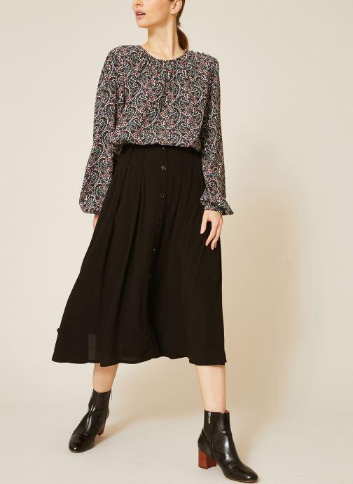 Vêtements Monoprix Femme Jupe midi Noir vue détail/paire