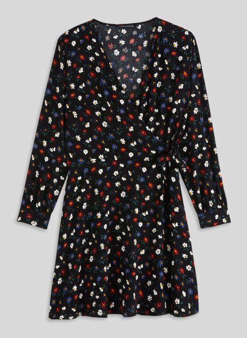 Vêtements Monoprix Femme Robe courte cache-coeur imprimé floral Noir vue face