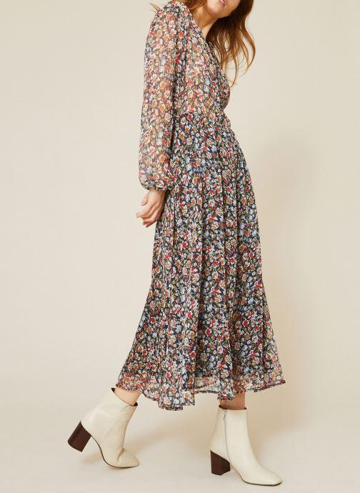 Vêtements Monoprix Femme Robe fluide col V imprimé floral Bleu vue détail/paire