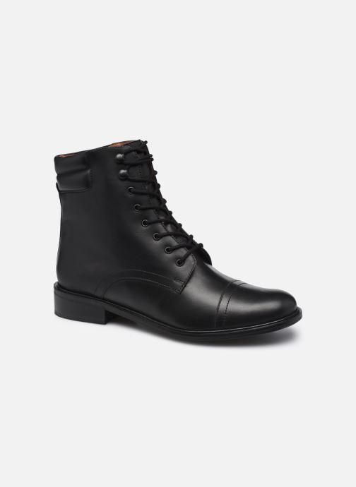 Stiefeletten & Boots Monoprix Femme Bottines en cuir à lacets schwarz detaillierte ansicht/modell