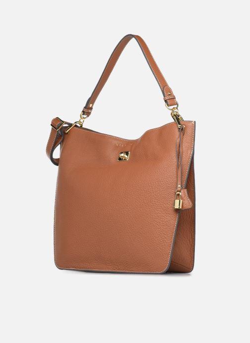 Handtaschen Mac Douglas Kentucky M Romy braun schuhe getragen