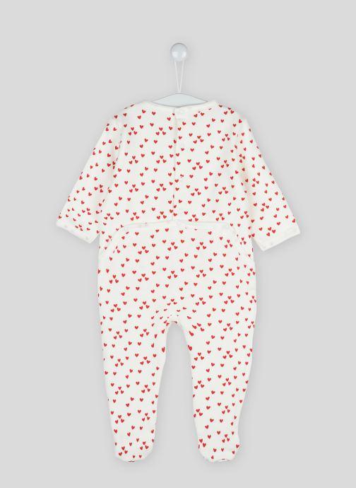 Vêtements Bout'Chou Dors bien imprimé étoiles en coton BIO Beige vue portées chaussures