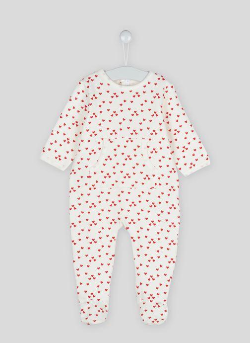 Vêtements Bout'Chou Dors bien imprimé étoiles en coton BIO Beige vue détail/paire